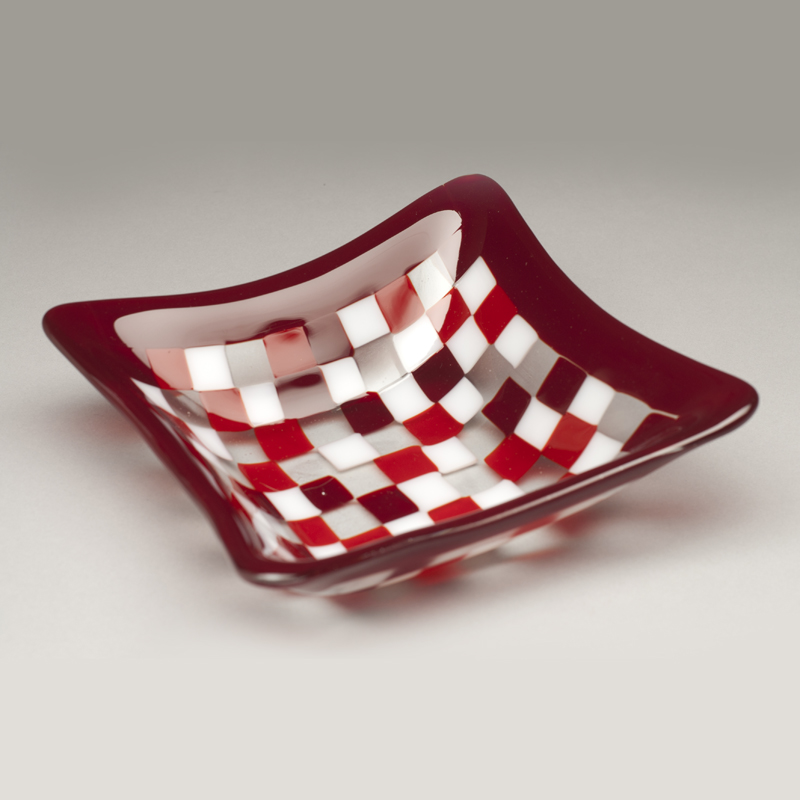 Mosaic Bowl in Red