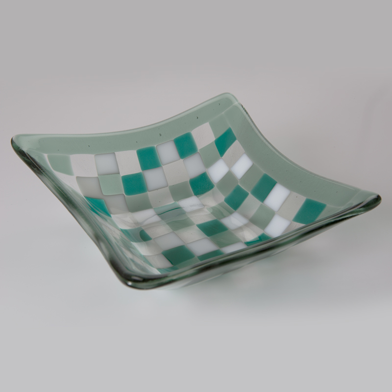 Teal Mosaic Bowl